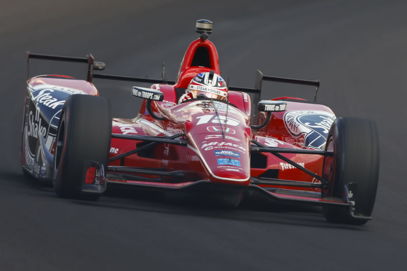 Graham Rahal during practice for the Indianapolis 500 this year.