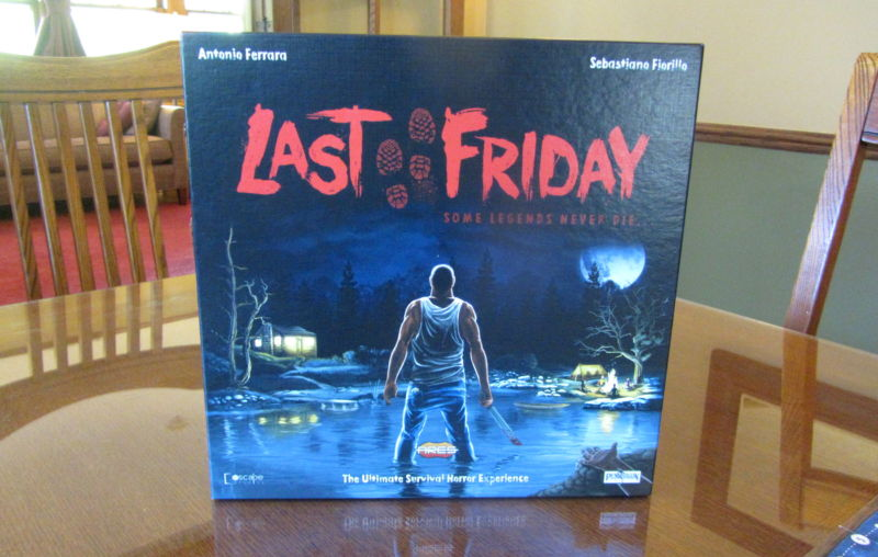 Last Friday—the board game in which you play a machete-wielding maniac
