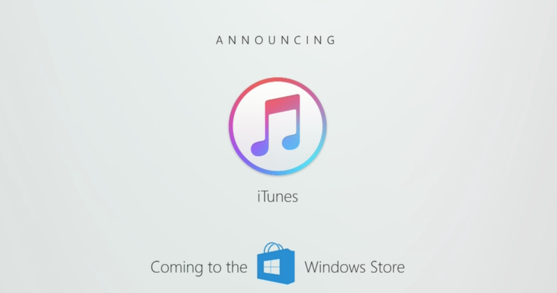 Spotify and—no joke—iTunes are coming to the Windows Store