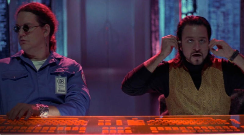 The bad guys will try to get you with their glowing keyboards and headsets, at least in the classic movie <em>Hackers</em>.