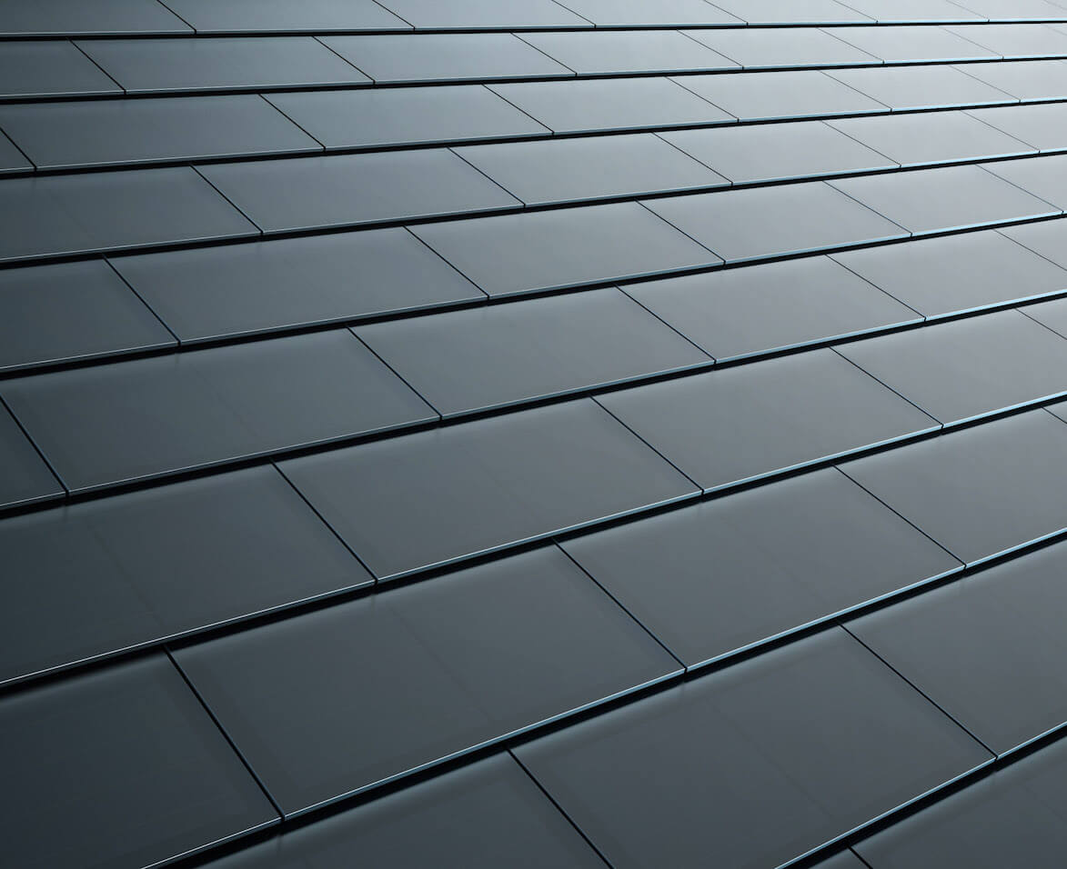 Enlarge / Tesla Is Starting Pre Orders On Smooth And Textured Black Glass  Solar Roofs.