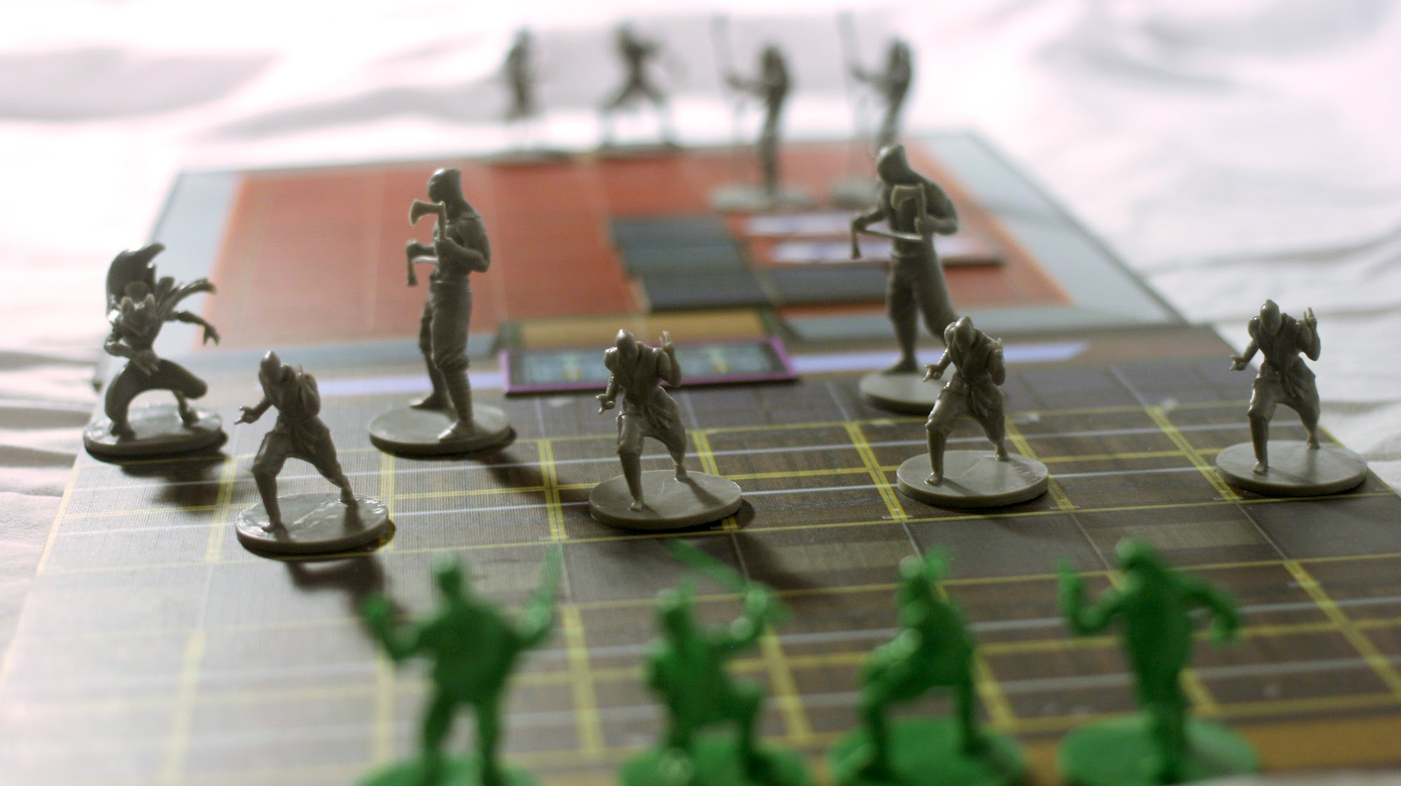 The game board setup for one of the scenarios.