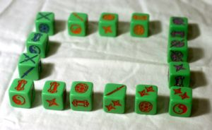 The dice rectangle.