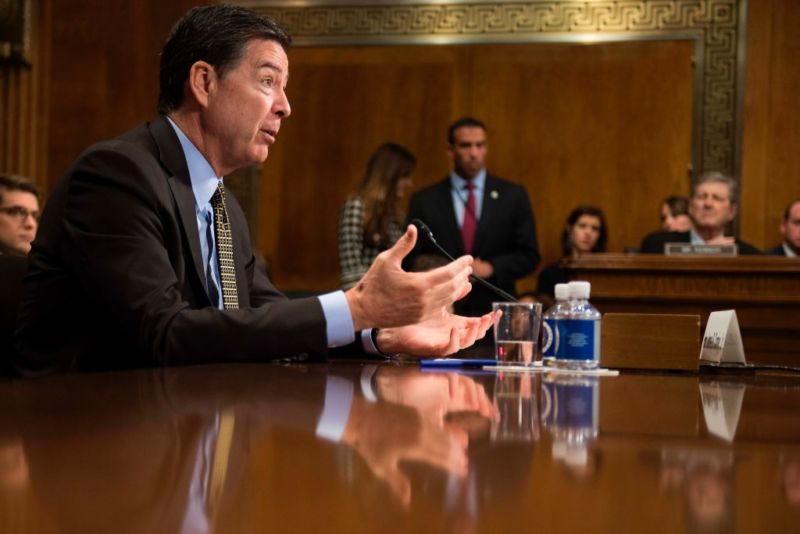 FBI Director James Comey testifies Wednesday before the Senate Judiciary Committee on Capitol Hill in Washington, DC.