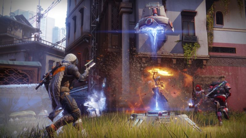 <em>Destiny 2</em>'s first multiplayer map includes a ton of tight city-styled corridors.