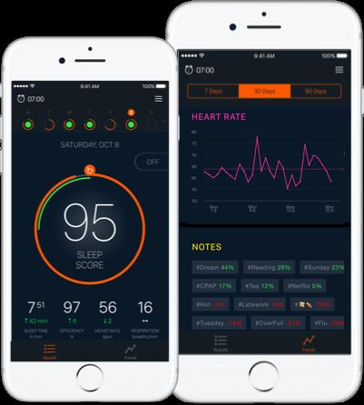 Beddit's iOS app.