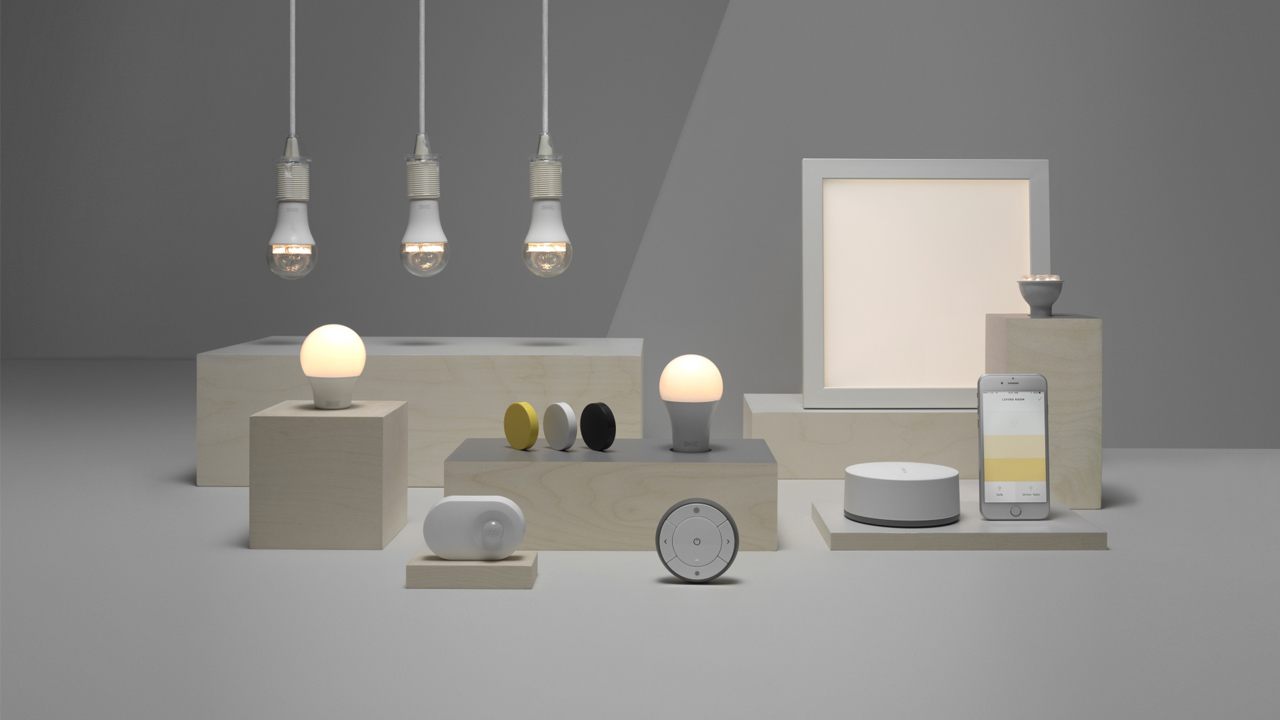 ikea s low cost smart lights get alexa google and siri. Black Bedroom Furniture Sets. Home Design Ideas