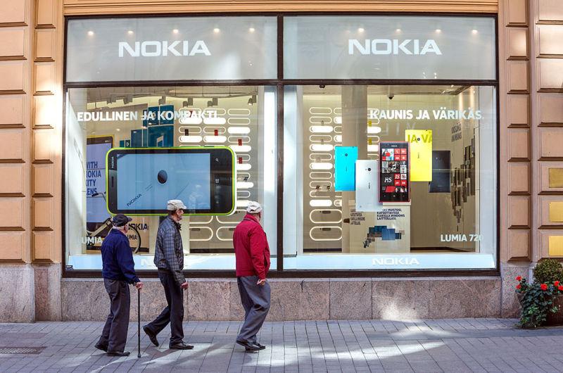 A Nokia store in Helsinki, Finland, in 2013.