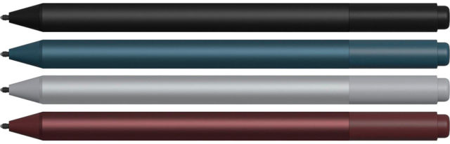 The Pen is available in four colors: Black, Cobalt Blue, Platinum, and Burgundy.