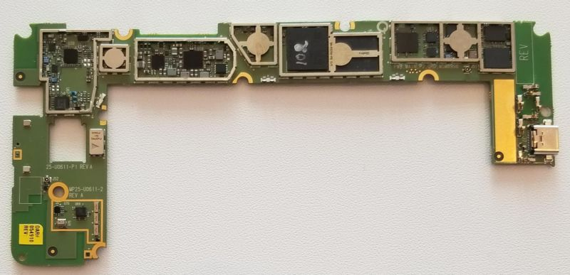 Qualcomm's prototype of a Snapdragon 835 motherboard for an ARM PC has an area of 50.4 square centimetres.