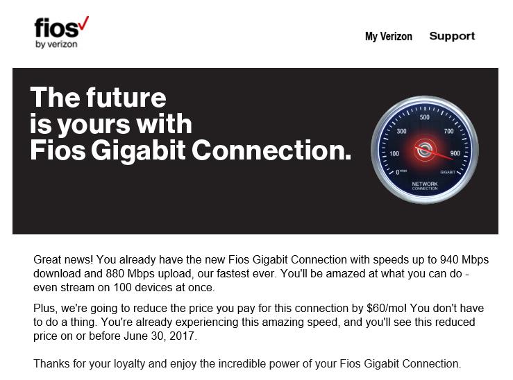 Verizon S Gigabit Upgrade Pricing Still Makes Almost No Sense Ars Technica