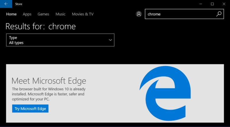 Windows 10 S forces you to use Edge and Bing