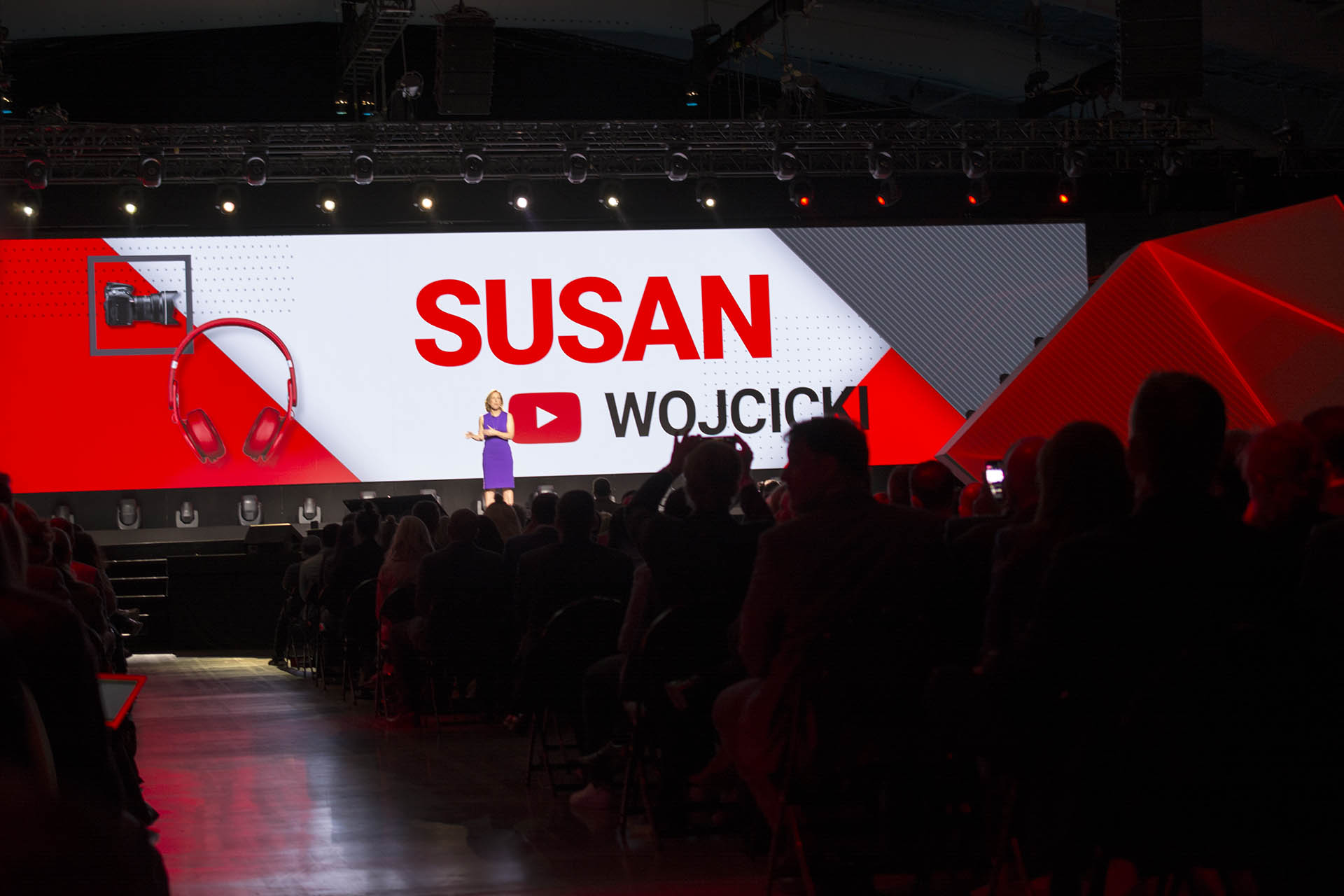 YouTube's CEO Susan Wojcicki at Brandcast 2017.