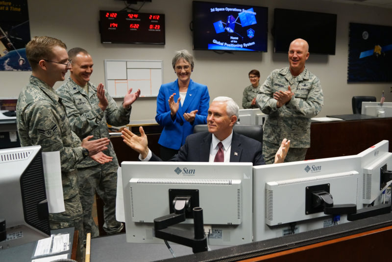 Vice President Mike Pence visited airmen and women at Peterson Air Force Base, Schriever AFB, and Cheyenne Mountain Air Force Station, Colorado, last week.