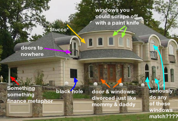 "McMansion "" used Zillow photos to mock bad design—Zillow may sue on bad team building, bad apartment building, bad idea house building, bad modern building, cheap home building,"