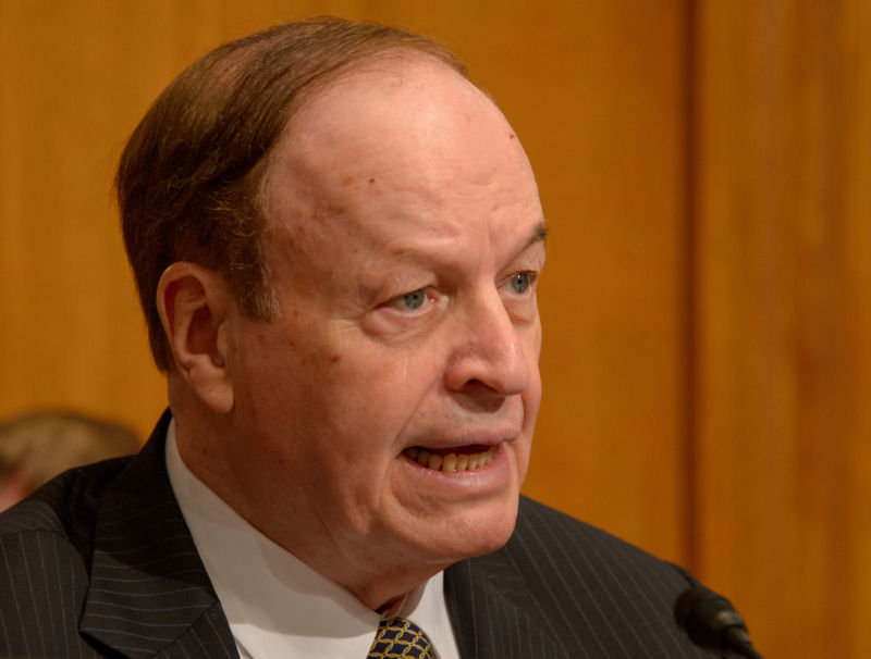 Sen. Richard Shelby, (R-Ala.) speaks during a Senate Commerce, Justice, Science, and Related Agencies Subcommittee hearing in 2016.