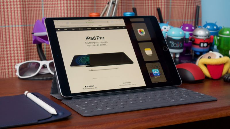 Image of open iPad.