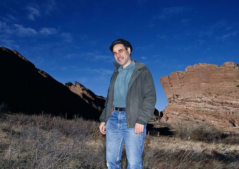 Robert Zubrin, an aerospace engineer who formed the Mars Society, photographed in Red Rocks, Colorado.