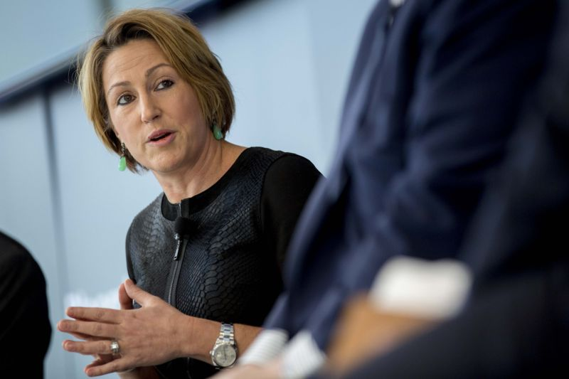 Heather Bresch, chief executive officer of Mylan Inc, in 2015, the year the company underwent a tax inversion.