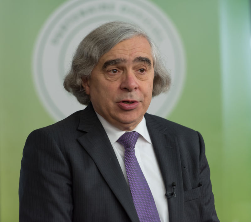 PARIS, FRANCE - 2015/12/08: US Secretary of Energy Ernest Moniz talks during a panel at the COP21, United Nations Climate Change Conference in Paris.