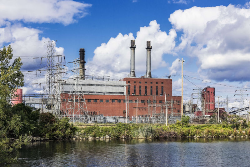 DUNKIRK, NEW YORK, 2016: A NRG-owned coal-fired energy facility that planned to convert to a natural gas facility.