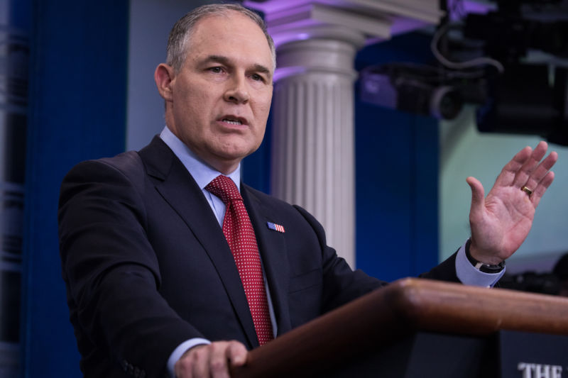 Former administrator of the Environmental Protection Agency Scott Pruitt.