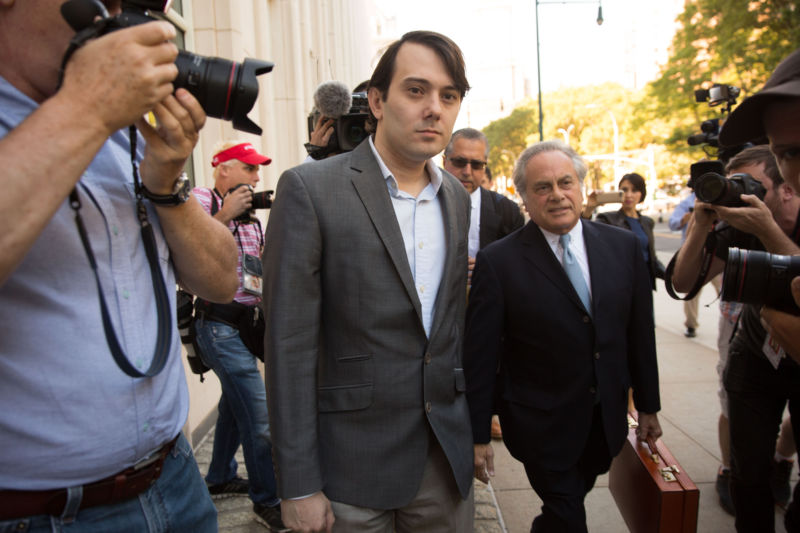 BROOKLYN, NY - Monday, June 26, 2017: Martin Shkreli arrives at Brooklyn Federal Court on the first day of his securities fraud trial.