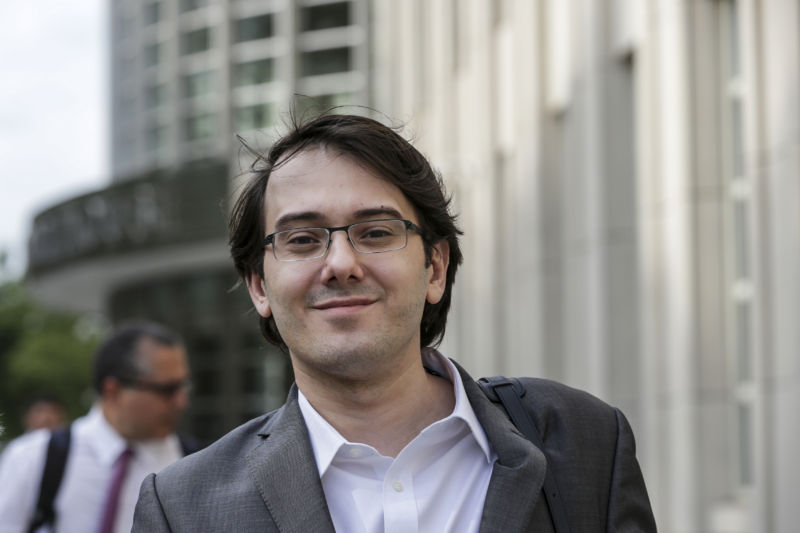 Martin Shkreli outside federal court in Brooklyn, New York on Thursday, June 29, 2017.