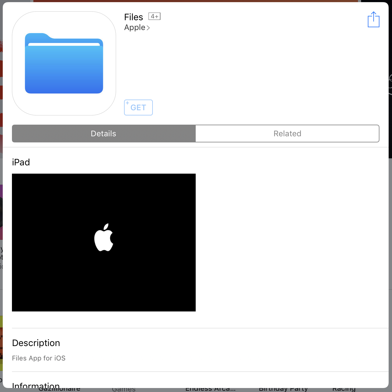 Apples new ios file manager coming this fall as part of ios 11 enlarge this mostly empty app store stub suggests apple will add a file explorer to ios 11 falaconquin
