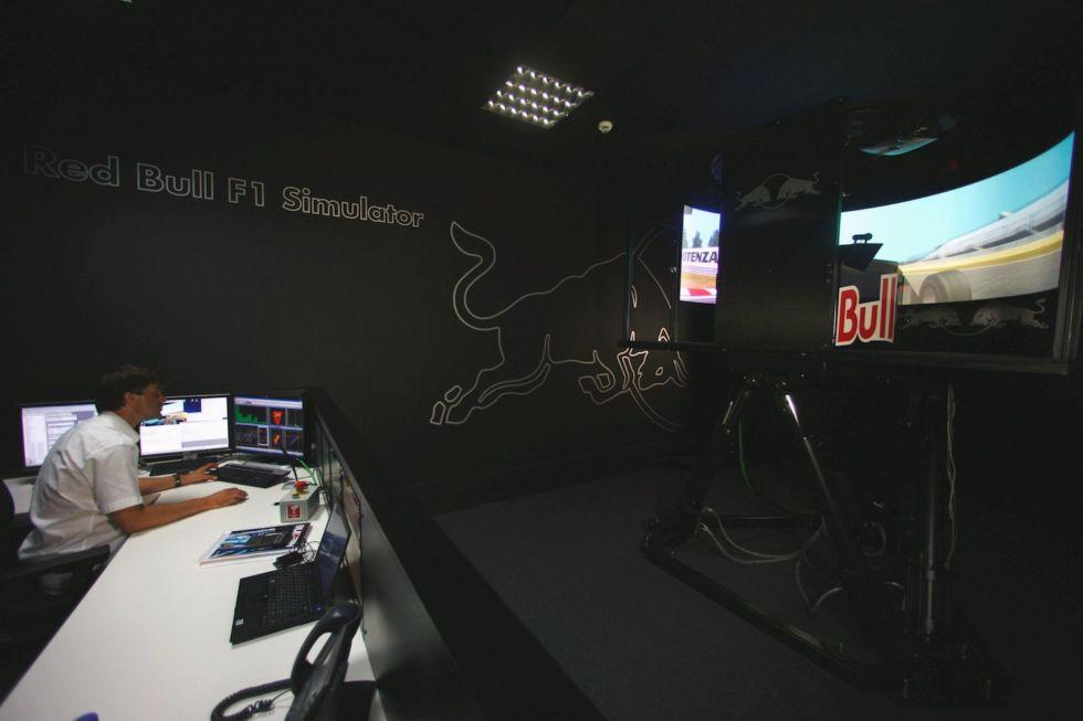 The Red Bull Racing simulator, taken in 2010.