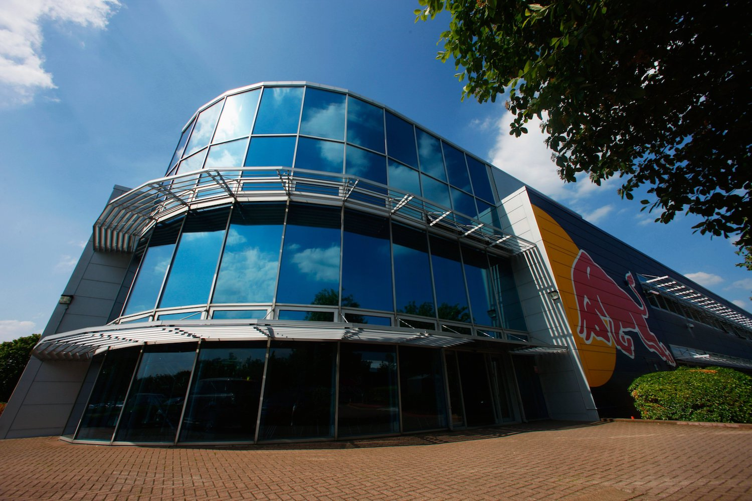 The Red Bull Racing simulator building at the team factory in Milton Keynes, England.