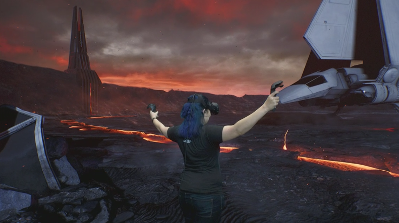 Enlarge  First-ever HTC Vive demo from Apple on a Mac