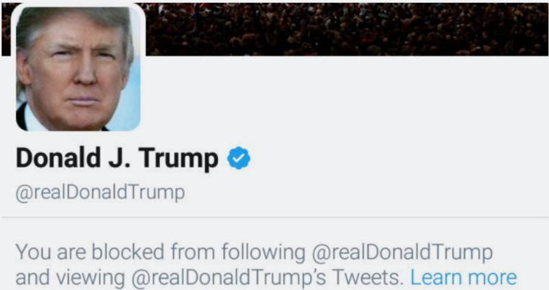 Trump blocking Twitter critics raises First Amendment concerns
