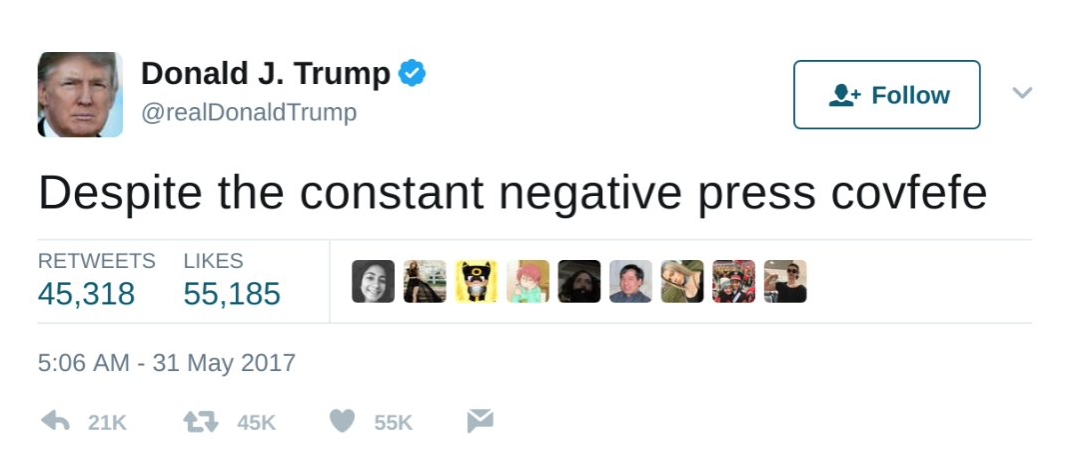 "Covfefe""—there's a congression..."