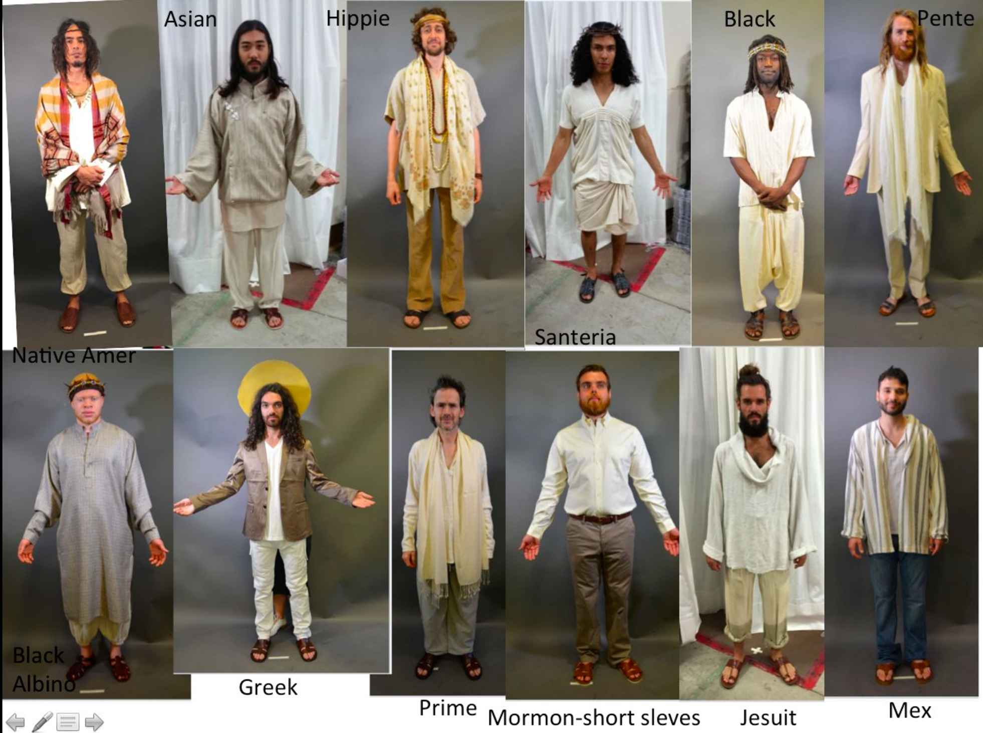 """Showrunner Bryan Fuller posted this picture on Twitter of several Jesuses included in the season finale, called """"Come to Jesus."""""""
