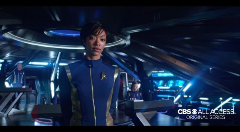 Sonequa Martin-Green plays protagonist Michael Burnham, first officer of the USS Shenzhou, on new CBS All Access series <em>Star Trek: Discovery</em>.