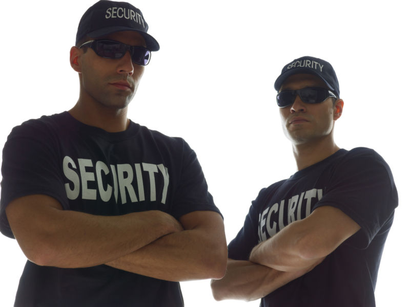 (Not actually the FCC's security guards.)