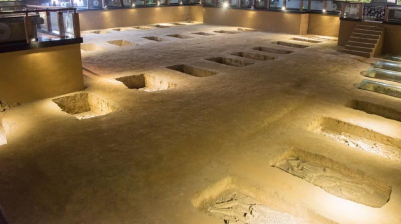 Royal graves at the site of Yinxu.