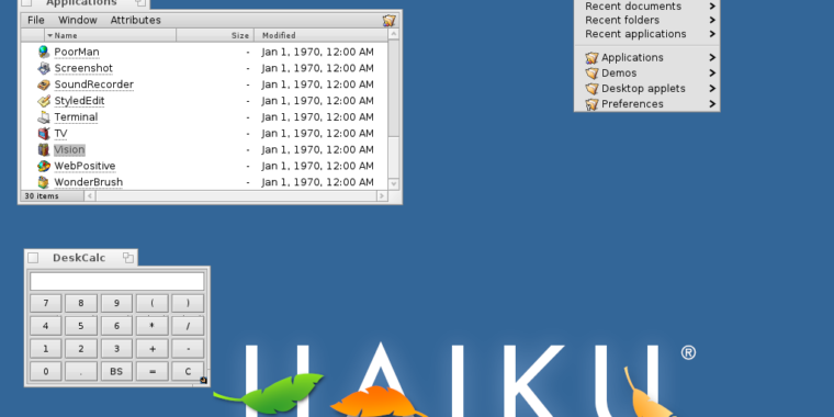 Ars spends too much time trying to work in Haiku, the BeOS successor