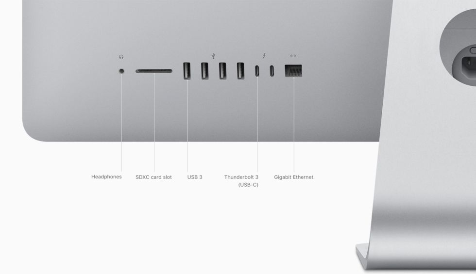 The iMac's updated I/O.