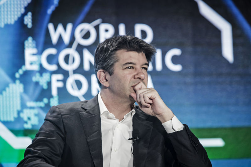 Uber CEO Travis Kalanick at the World Economic Forum in Tianjin, China last year.