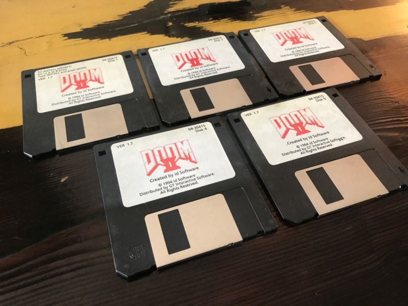 Original Doom 2 3.5-inch Floppies on Sale From John Romero