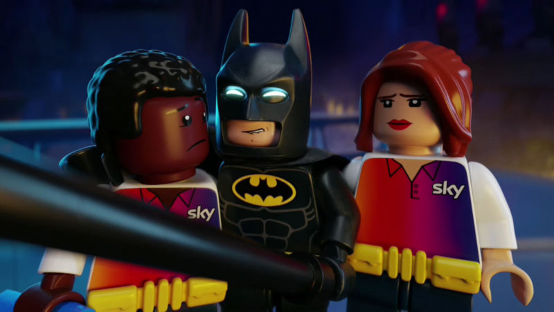 Sky scolded over shadowy small print in LEGO Batman broadband ad