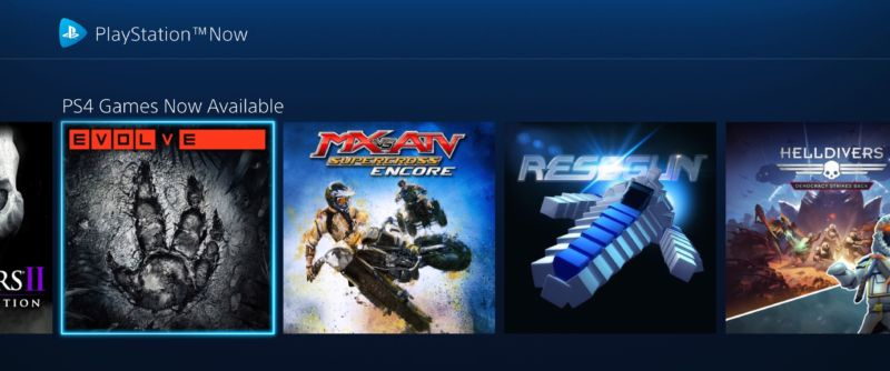 There they are! PS4 games, ready for your paid-streaming pleasure.