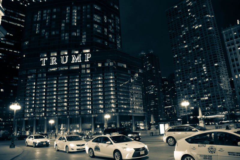 Trump Chicago was one of the hotels targeted.