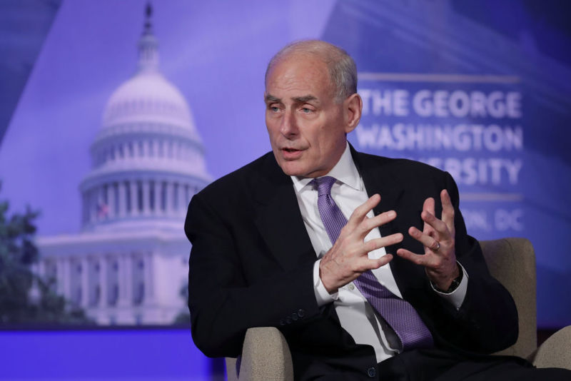 US Homeland Security Secretary John Kelly.