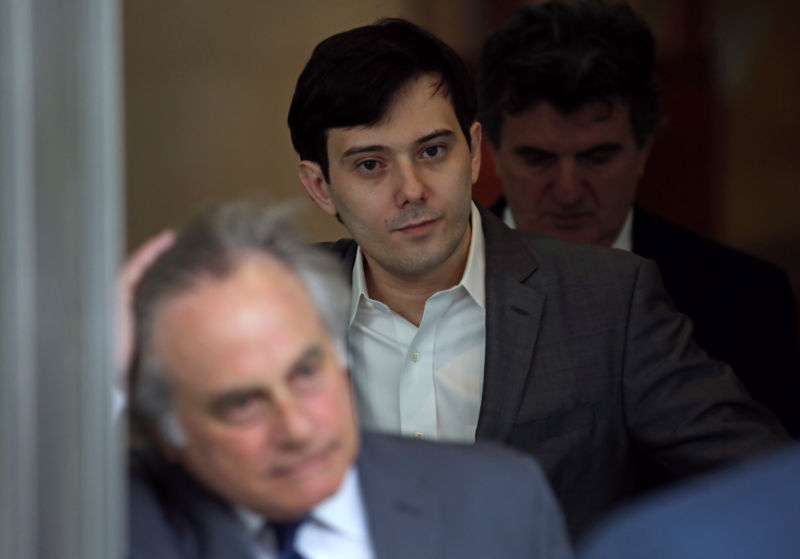 Martin Shkreli leaves a federal court in New York.