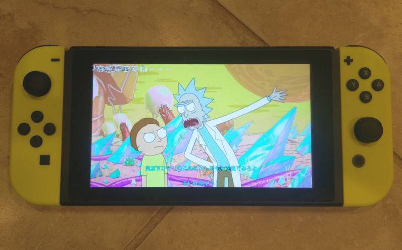 <em>Rick and Morty</em> on a Nintendo Switch?! It's thanks to Niconico, a Japan-only video streaming app that works on any Switch in the world.