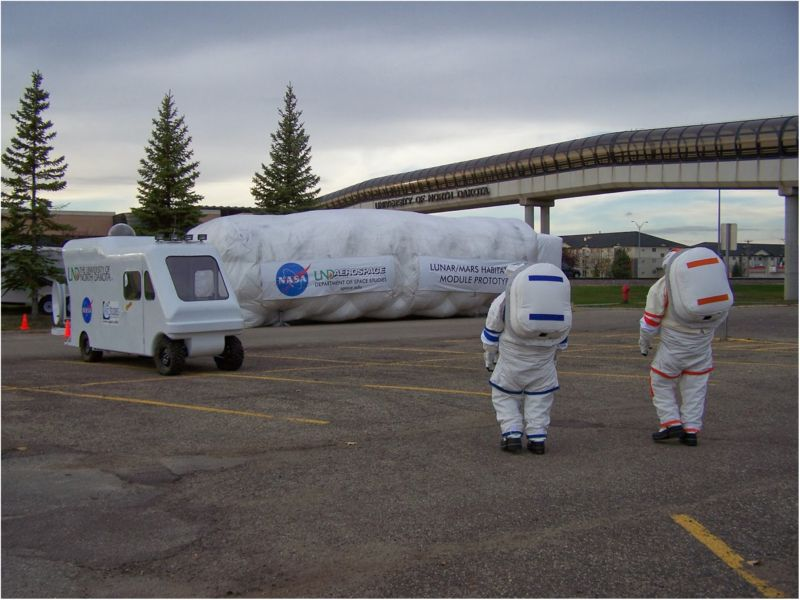 The inflatable lunar/Mars analog habitat, or ILMAH.