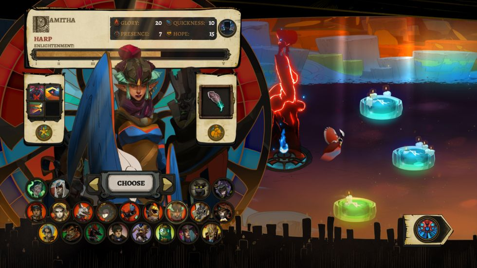 When playing a two-player skirmish, all characters are unlocked, whether or not you have beaten the campaign. That's spoilery enough (though the characters are hidden here), but be warned: as of press time, this selection screen also unlocks all of their <em>backstories</em>, which can ruin some plot beats.